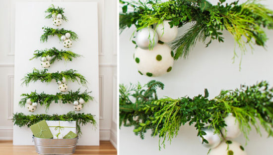 decorating with fresh greenery