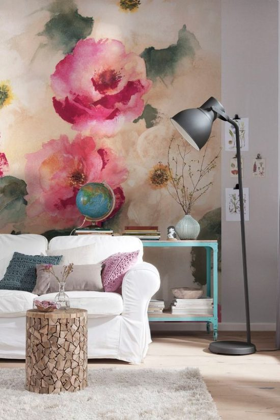 Oversized wall mural