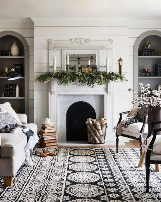 Patterned Rug Farmhouse Room Magnolia