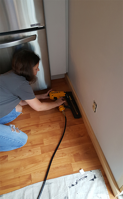 Adding baseboard trim DIY