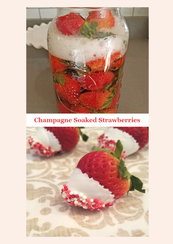 Champagne Soaked Strawberries for Valentine's Day!