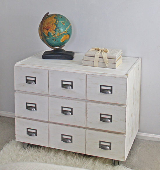 DIY Card Catalog Nightstand Ikea hack