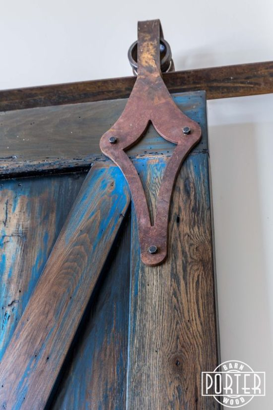 Decorative hardware for barn doors