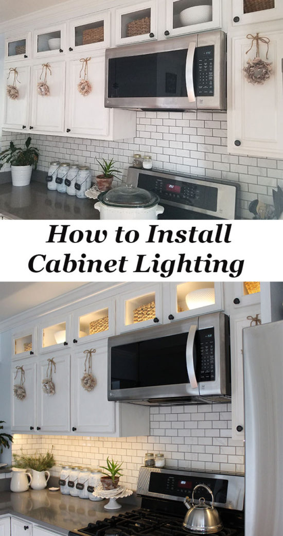 How To Install Lower Kitchen Cabinets how to install kitchen cabinet lighting - the honeycomb home