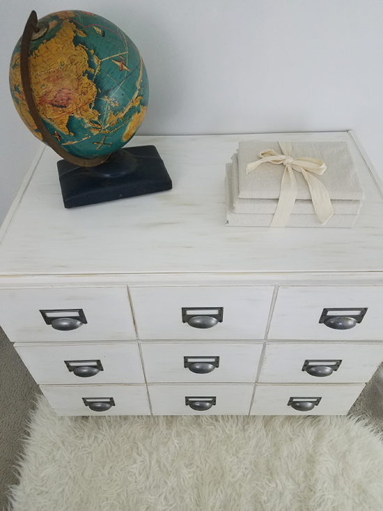 Ikea rast 3 drawer chest turned into a diy card catalog nightstand