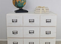 Make this 3 drawer IKEA chest into a card catalog