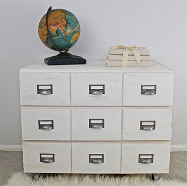 DIY Card Catalog Ikea Hack
