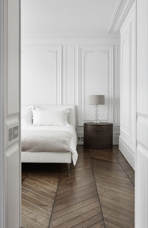 bedroom ideas amazing molding and herringbone floors
