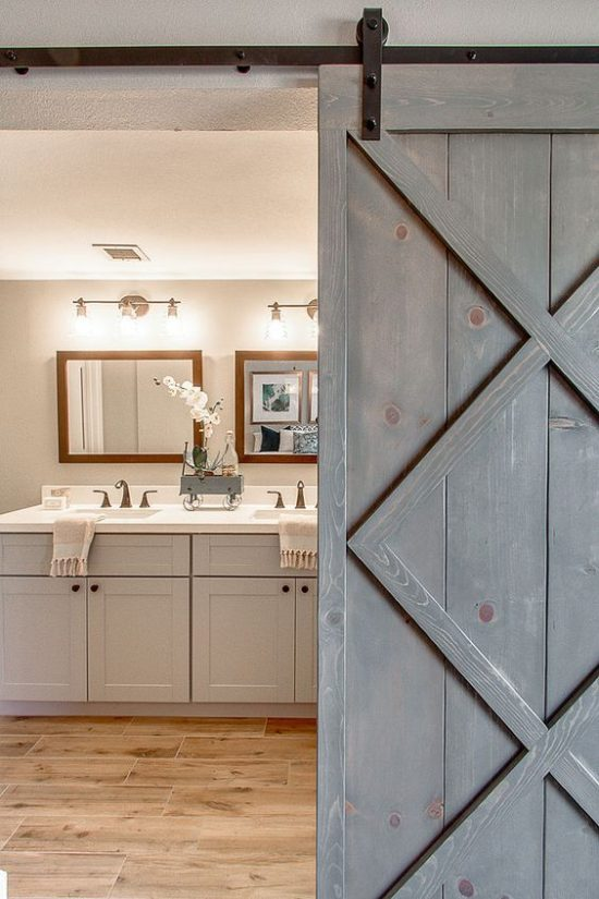 modern sliding barn door from Blissful abode interiors