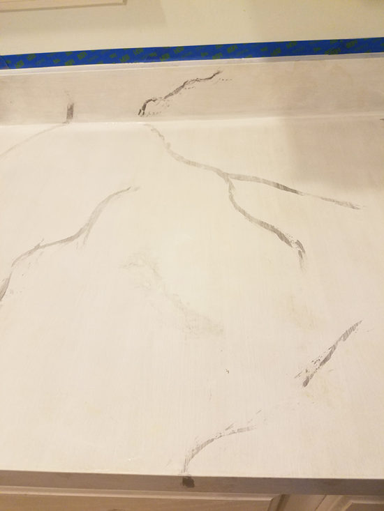painting countertops layering