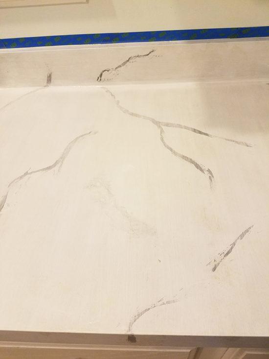 painting countertops layering