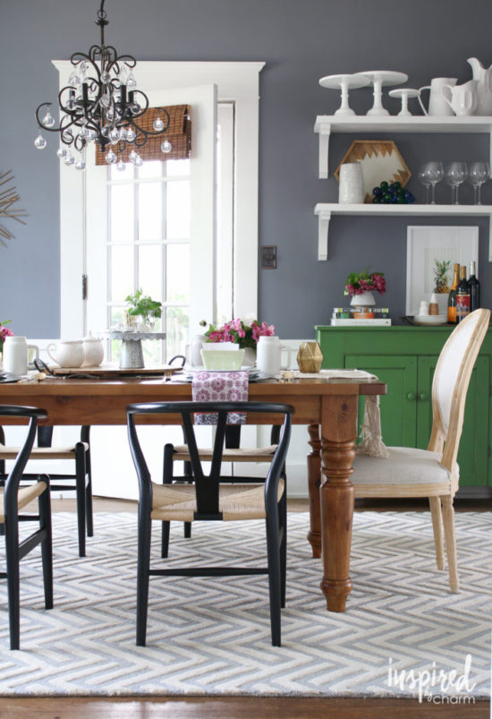 Green Sideboard Dining Room Inspired by charm