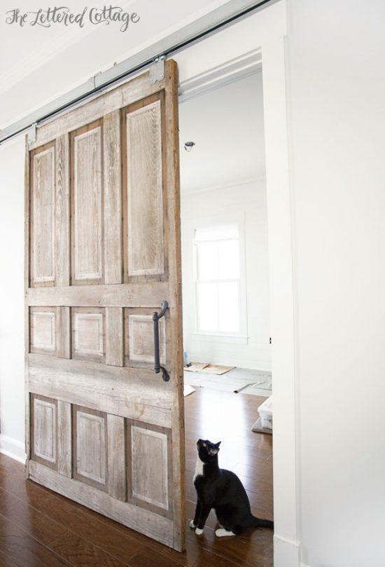 Sliding barn door ideas for Barn doors over sliding glass doors