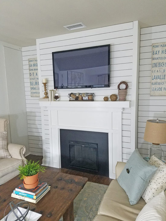 Decorating a mantel with rustic finds