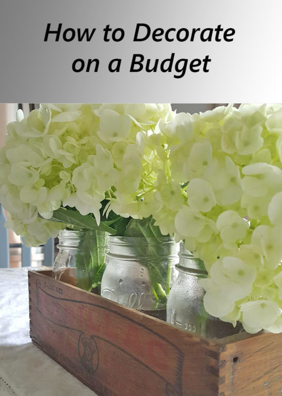 How to decorate on a budget, easy to implement affordable decorating ideas!