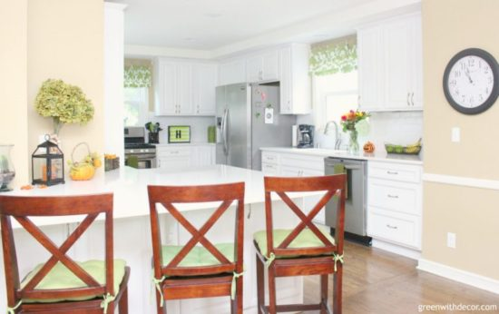 Kitchen Makeover Green With Decor
