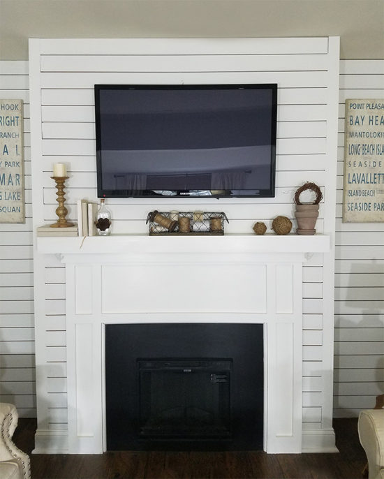 Neutral Rustic Mantel decorating ideas