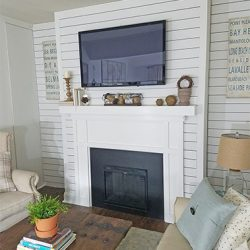 Neutral mantel decor
