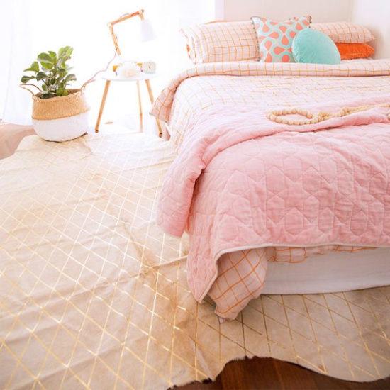 Pink Cowhide Rug
