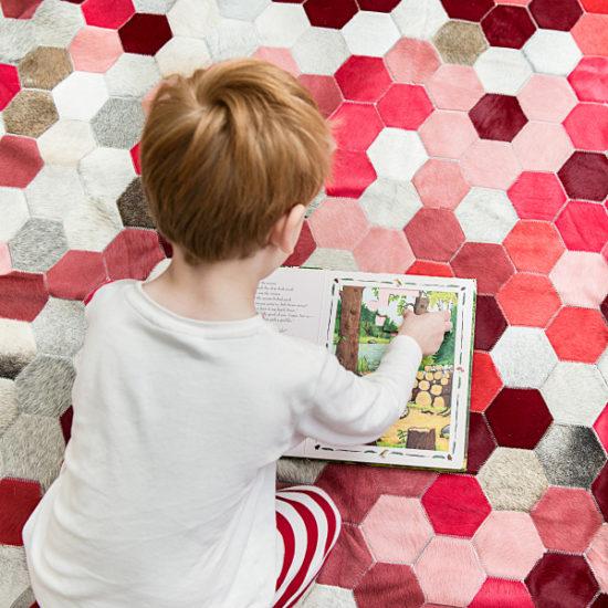 honeycomb cowhide rug