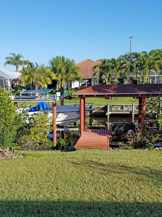 house with boat dock