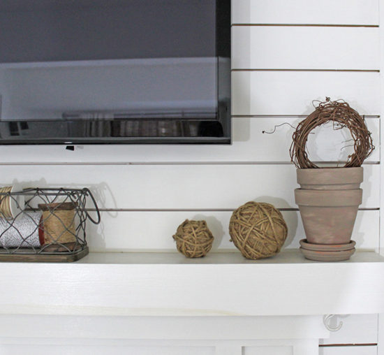 mantel decor rustic