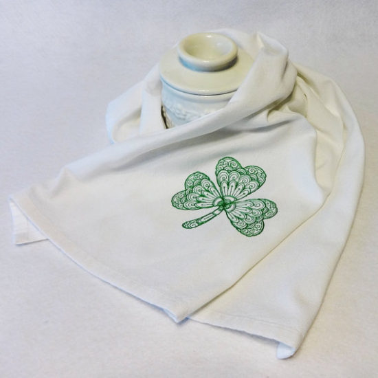 shamrock hand towel st patricks day decorating decor