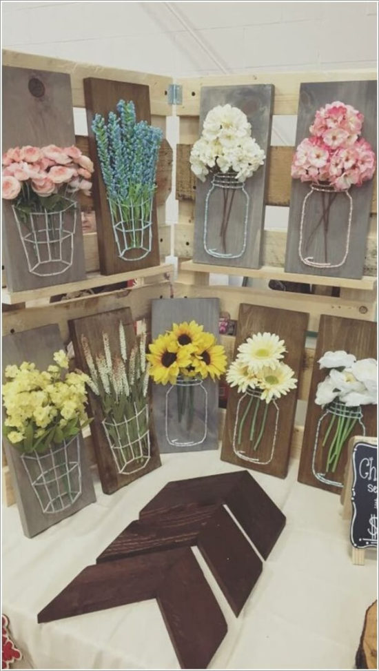 DIY Spring String Art