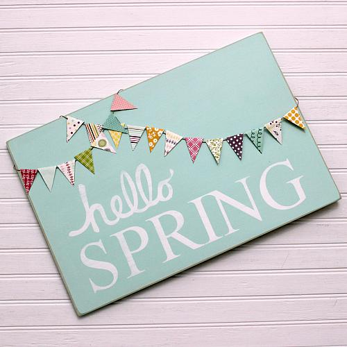 DIY Hello Spring sign Spring DIY Ideas