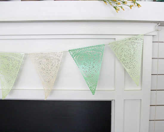 DIY SPring Banner Cricut Explore Air 2