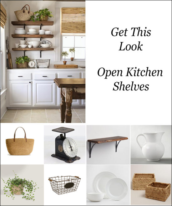 Get This Look Open Kitchen Shelves Pin