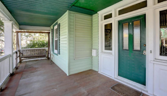 House Tour Front Porch with Porch Swing