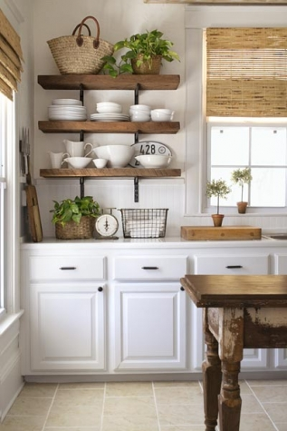 Inspiration pic open kitchen shelves this old house