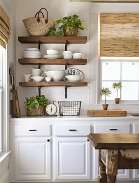 Get This Look: Open Kitchen Shelves