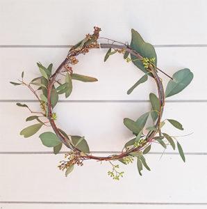 Simple DIY Spring Wreath Eucalyptus FI