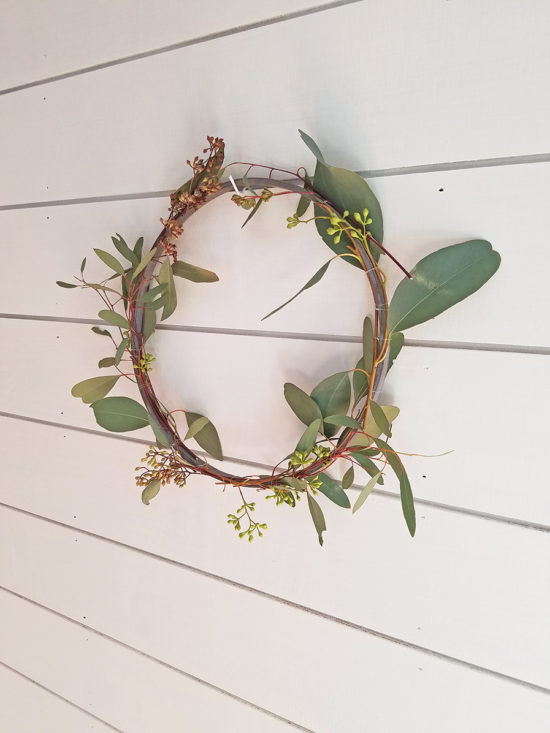 Simple Spring Wreath with Eucalyptus