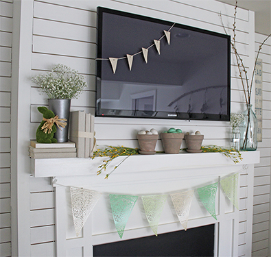 Spring Mantel Blog Hop