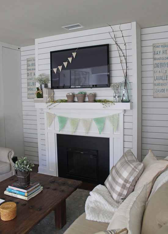 Spring Mantel Decorating Ideas spring mantel decorating ideas - the honeycomb home