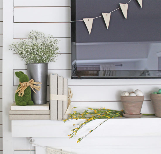 Spring Decor Spring Mantel