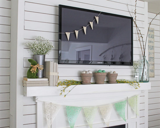 Spring Mantel Decorating Ideas - The Honeycomb Home