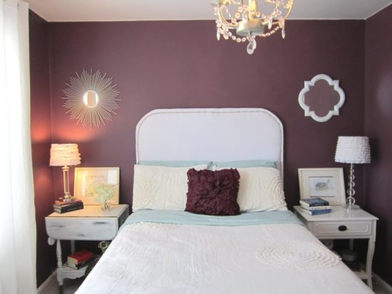 One Room Challenge purple bedroom before
