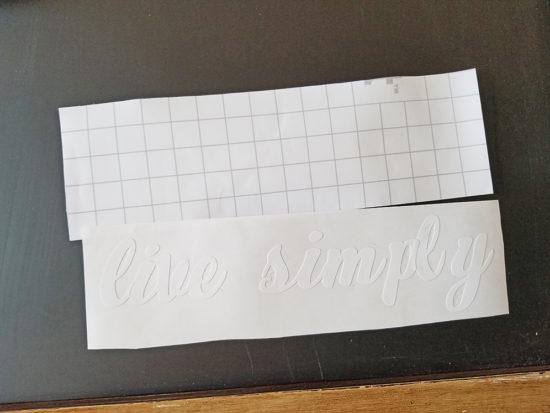 custom lettering with a cricut machine