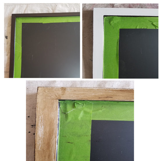 diy magnetic chalkboard rustic wood frame