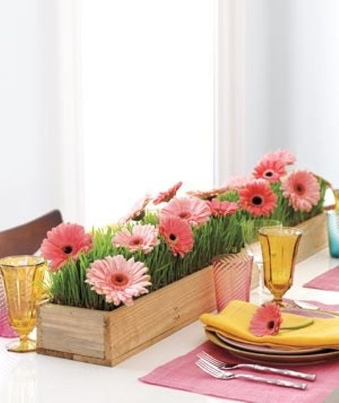 gerber daisy spring centerpiece