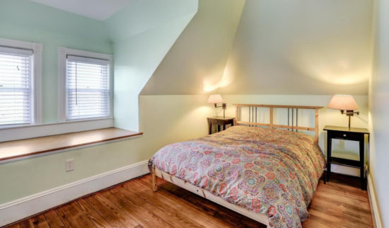 house tour bedroom with window seat