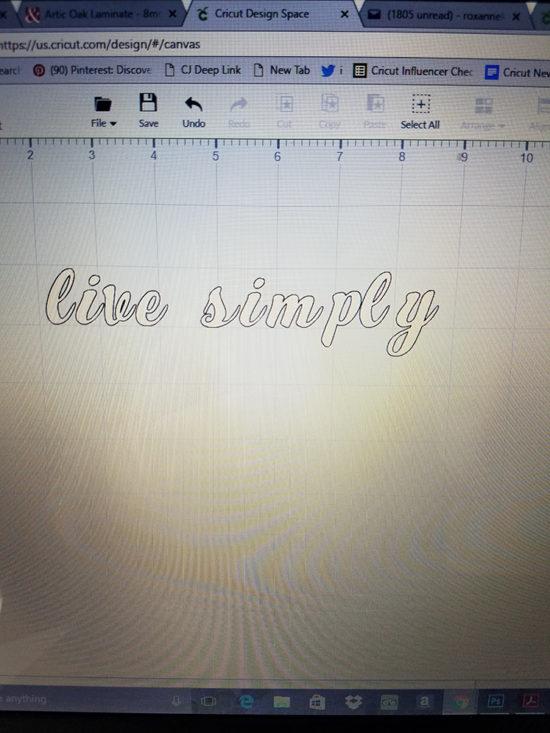live simply font cricut