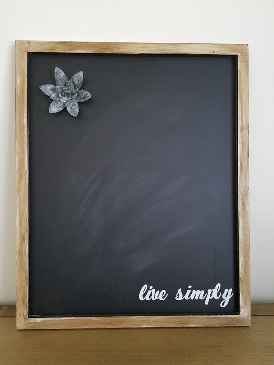 customized magnetic chalkboard live simply cricut projects