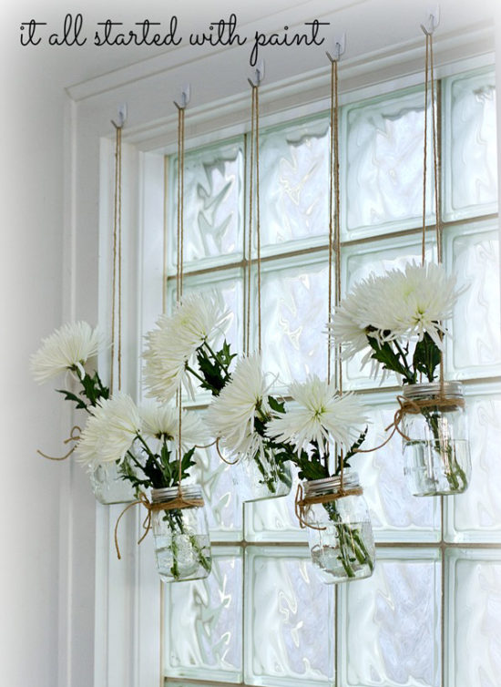 mason jar window treatments