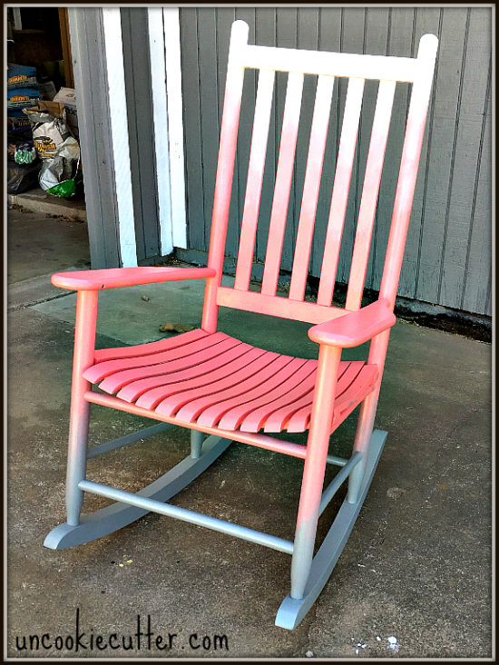 how to ombre rocking chair uncookie cutter