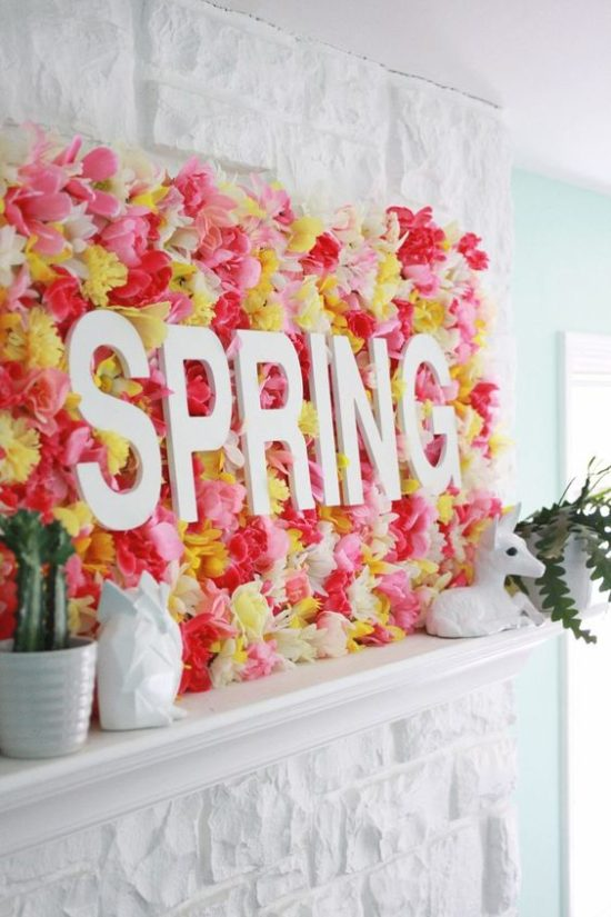 spring diy with faux flowers
